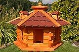 XXL Vogelhaus, Vogelhäuschen behandelt mit Bitumschindeln und drei Gauben