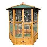 Pets Imperial - Vogelhäuser Atemberaubendes Vogelhäuschen Nistkasten - Vogelfutterhäuser aus Holz - Vogelhaus Vogelkäfig Voliere mit hexagonales Gittermuster
