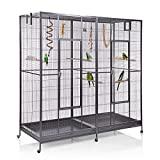 Montana Cages ® | Doppelvoliere, Vogelvoliere XXL Sydney für Wellensittiche, Finken, Kanarien, Nymphensittiche
