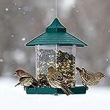 OurLeeme Vogelhäuschen, Hängelaterne Vogelhäuschen Gartensamenhäuschen Regenschutz Wetterfest für die Gartendekoration im Freien